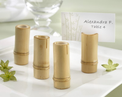 Bamboo Place Card Holders